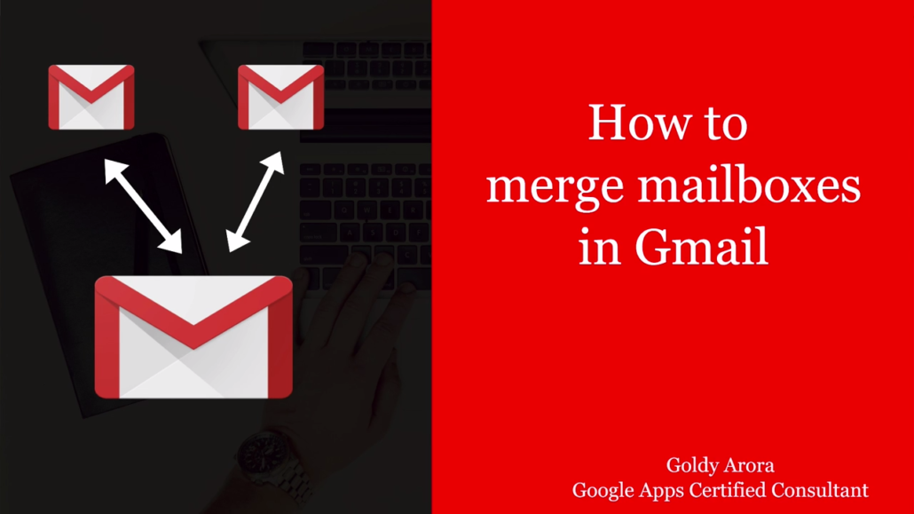 Merge two gmail accounts with this trick