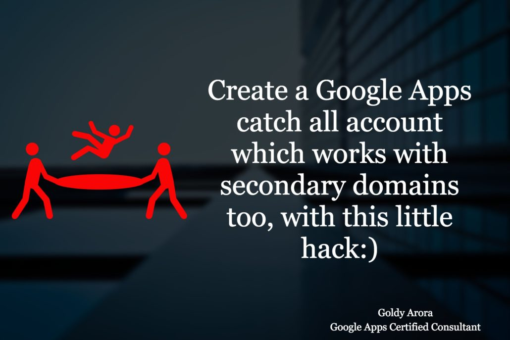 Create a catch all account in G Suite