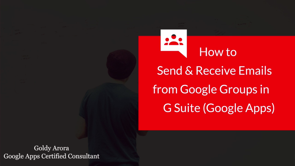 Send and receive emails via Google Workspace Group