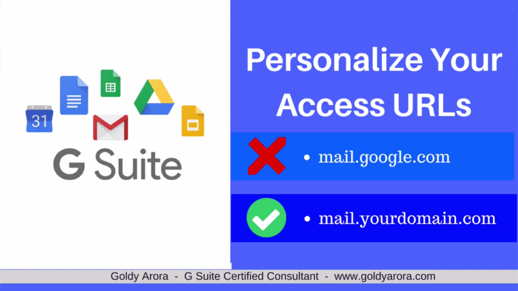 Personalize your access urls in Google Workspace