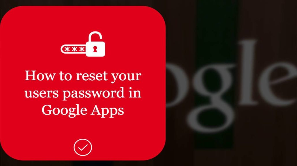 reset password in g suite admin console