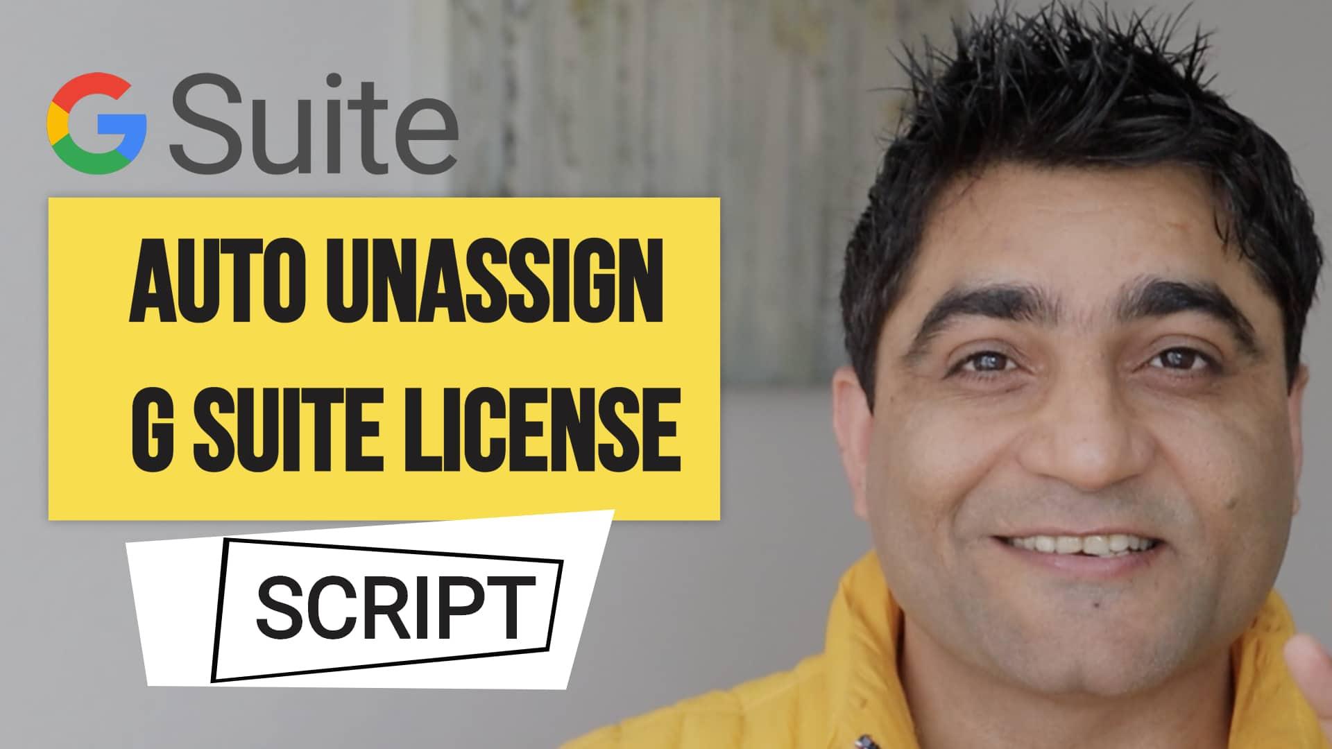 Google Workspace Unassign License Script