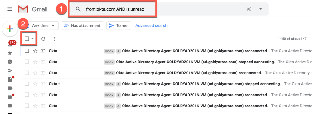 30. Delete All unread emails from specific senders in Gmail