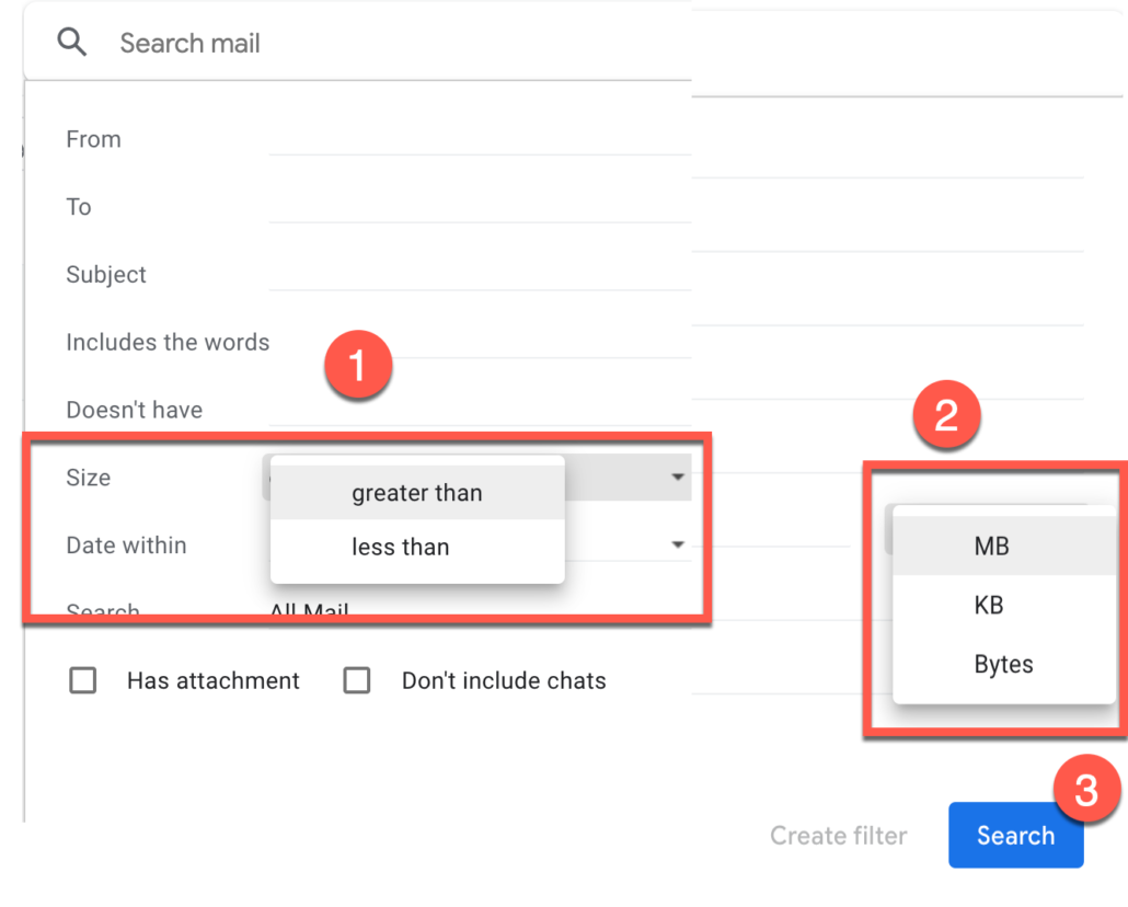 36. Delete Gmail emails by size also support KB and Bytes