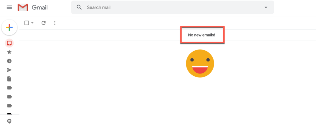 4. All your Gmail emails should now be deleted