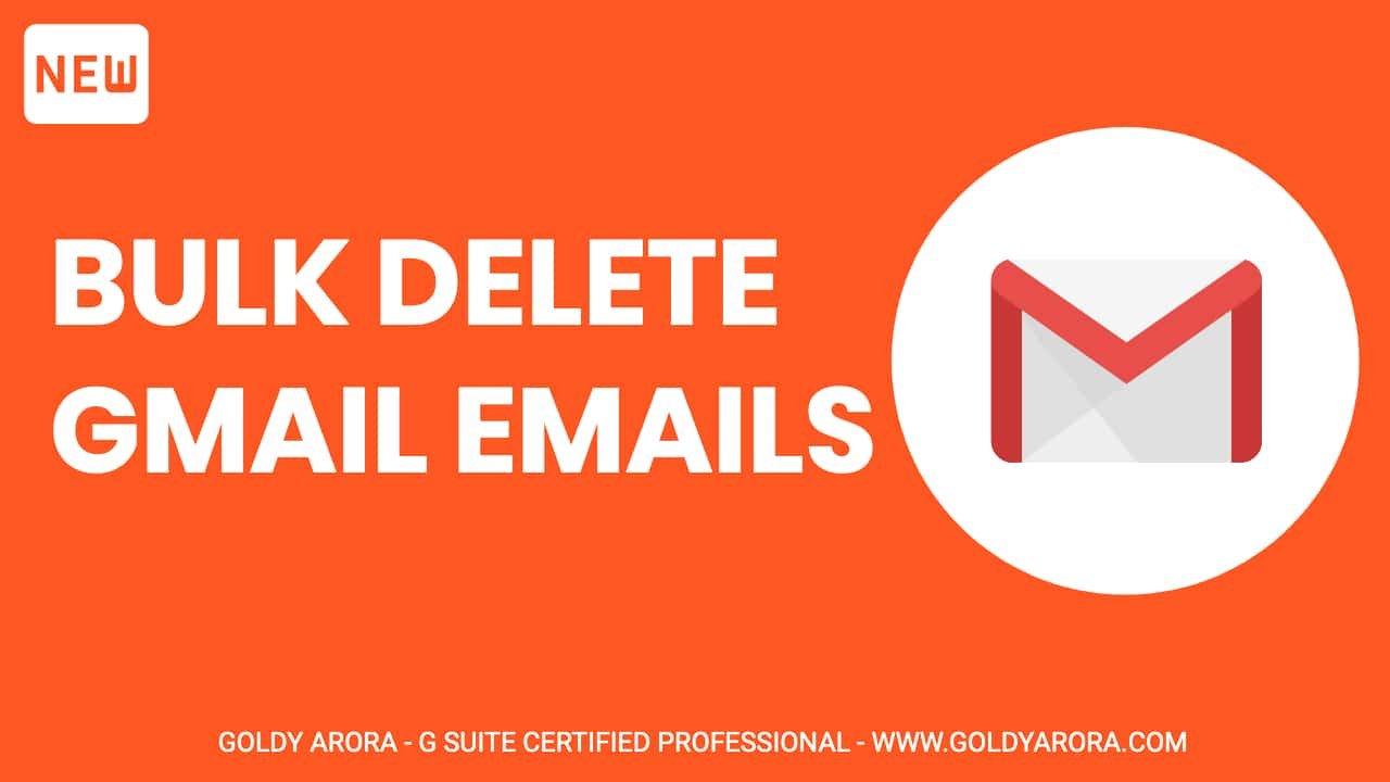Bulk Delete Gmail Emails