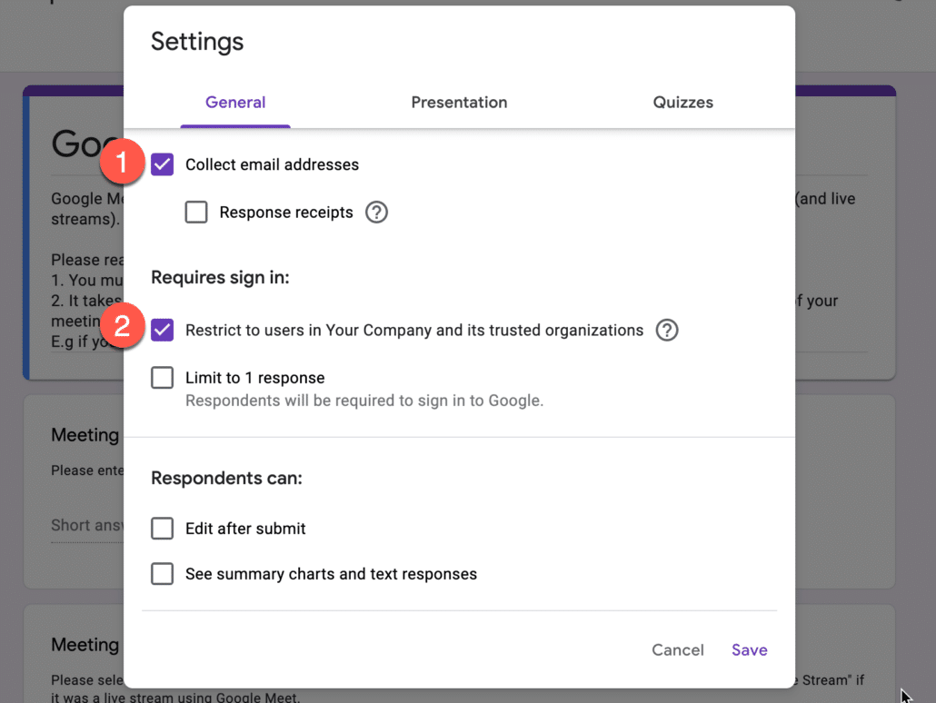10. Collect emails in google form