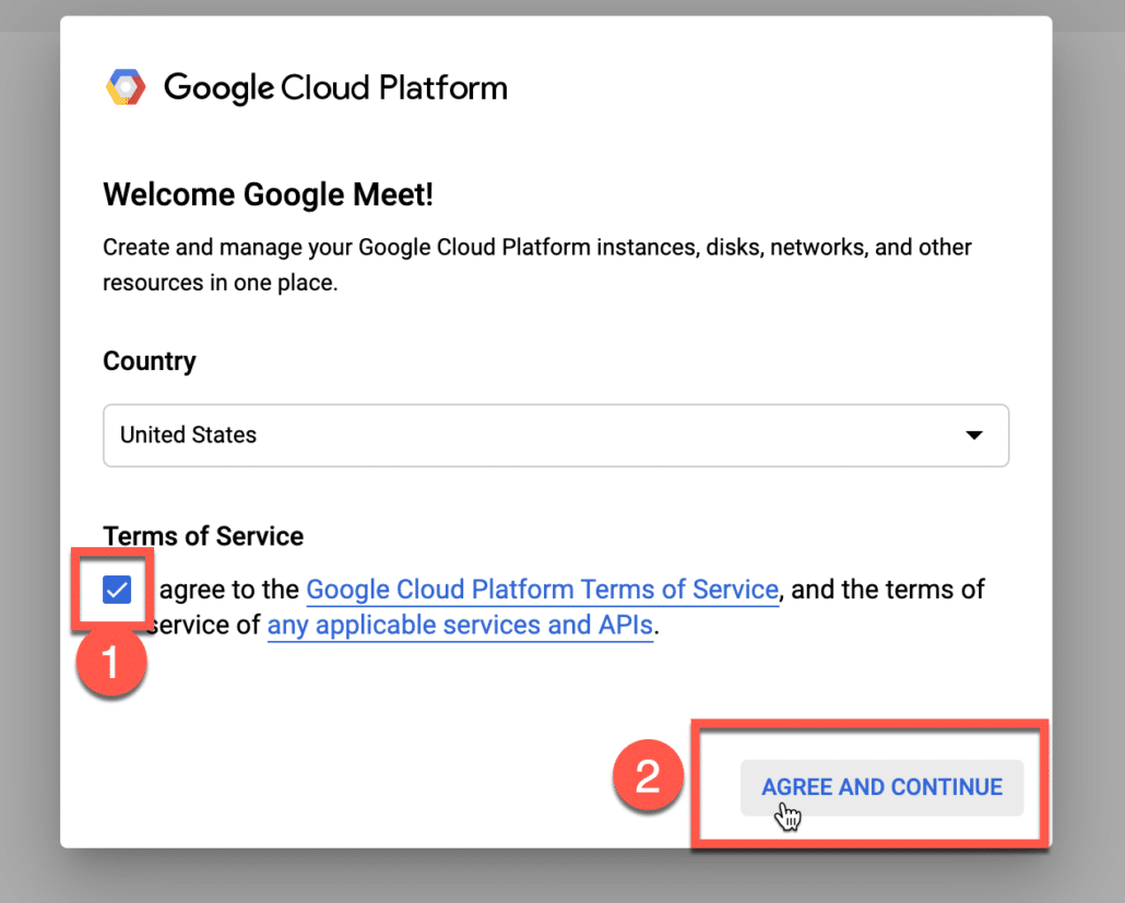 20. accept google's terms of service