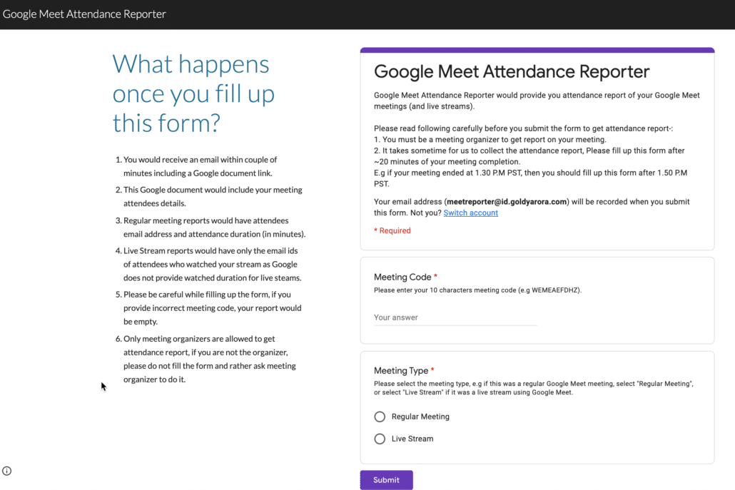 43. google site form embed example
