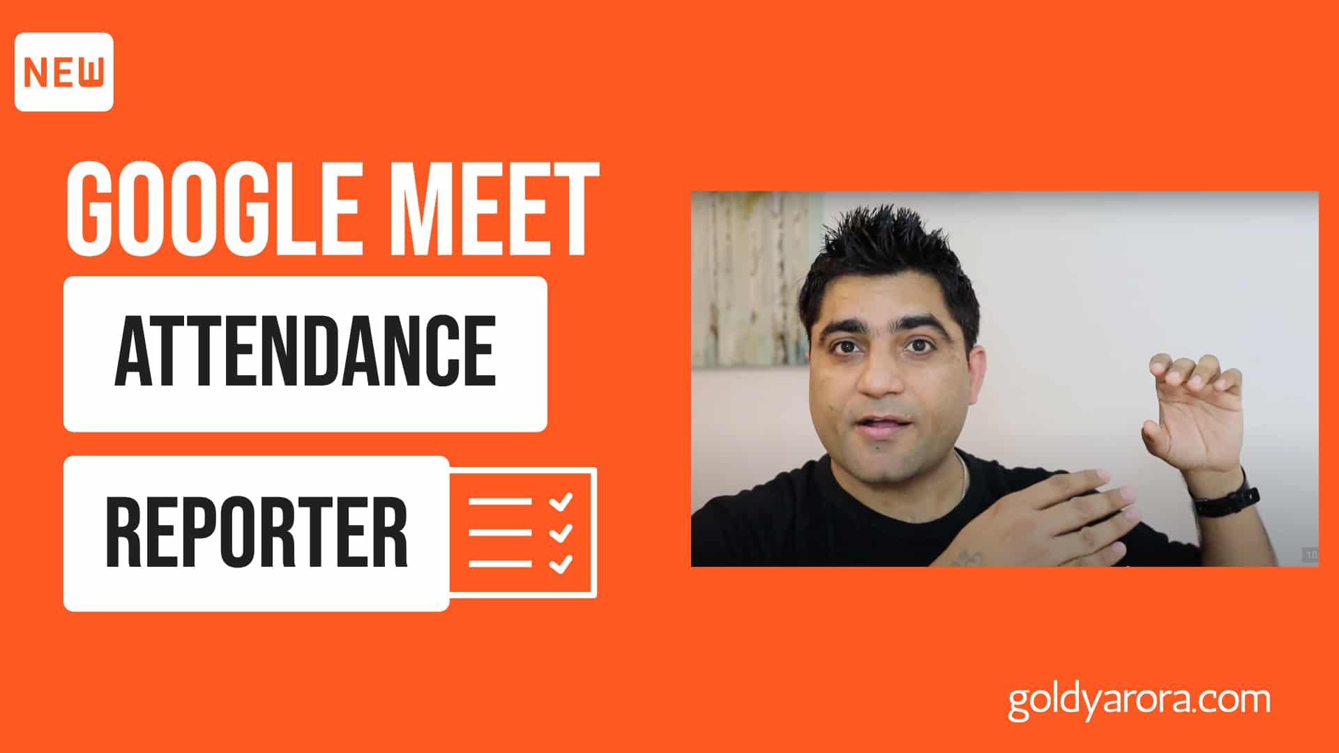 Google Meet Attendance Tracker