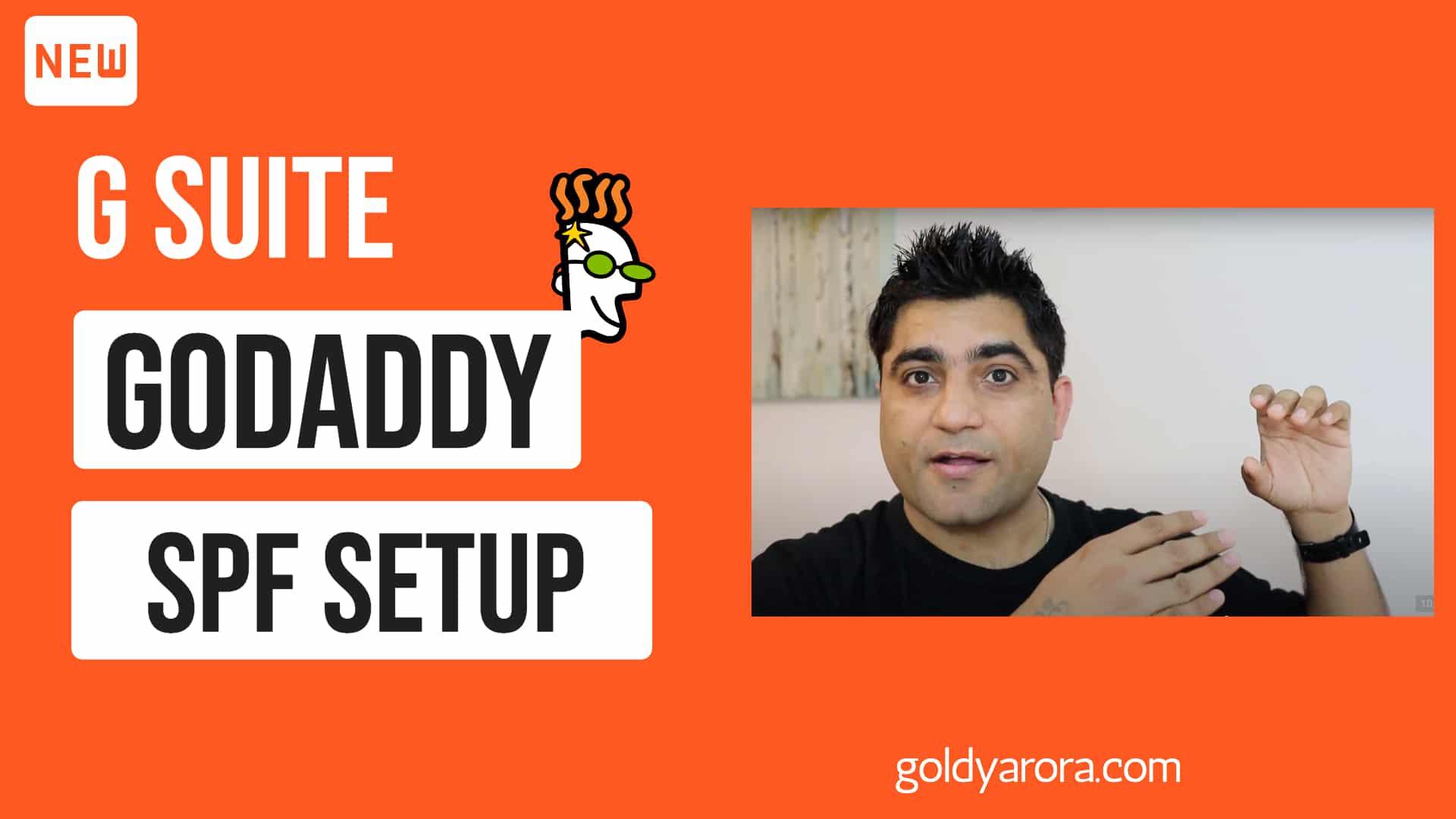 Google Workspace Godaddy Email Setup - SPF Records setup