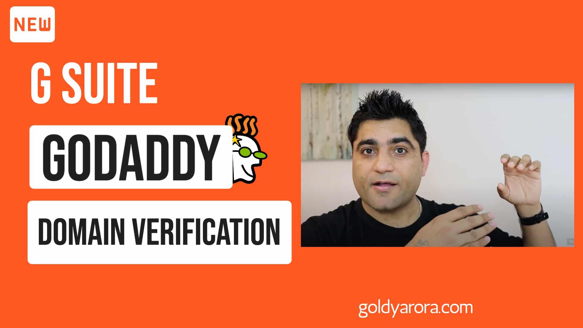 Google Workspace Godaddy Setup - Domain Verification