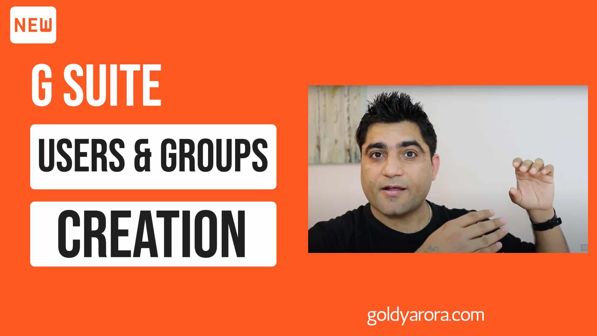 Google Workspace Godaddy Setup - Users & Groups creation
