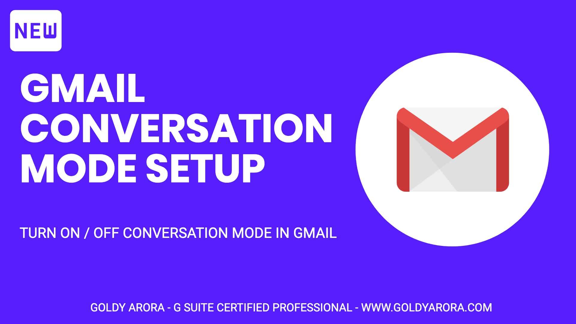 Gmail Conversation Mode Setup