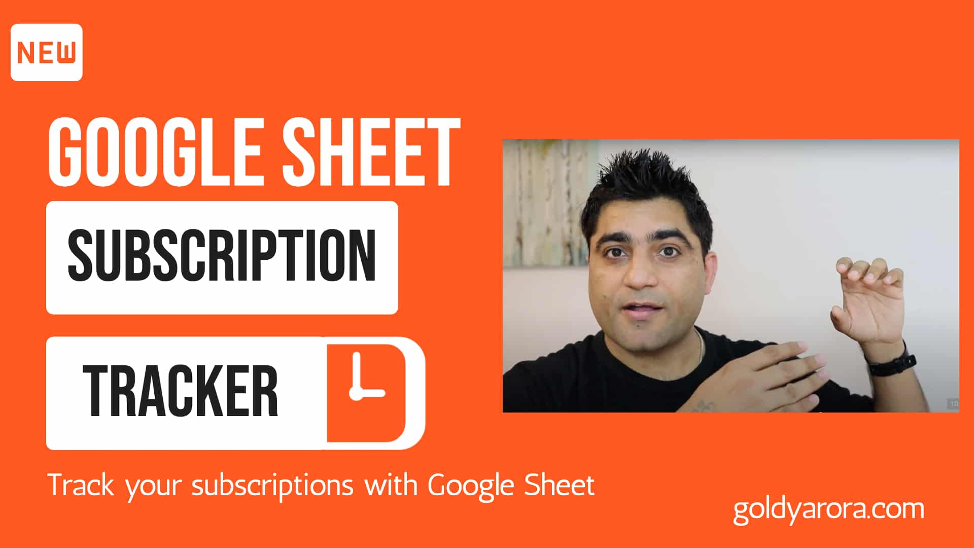 Google Sheet Subscription Tracker