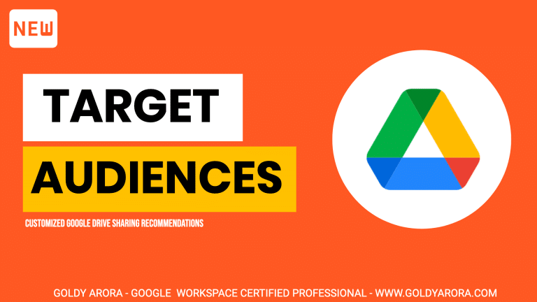 Google Drive Target Audiences