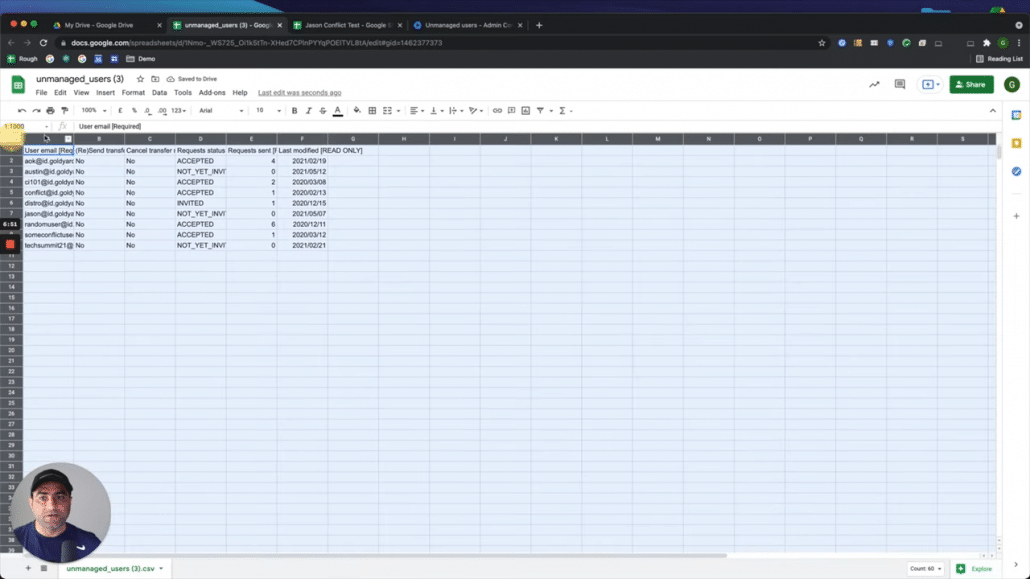 13. Click on CSV file and the CSV file is here