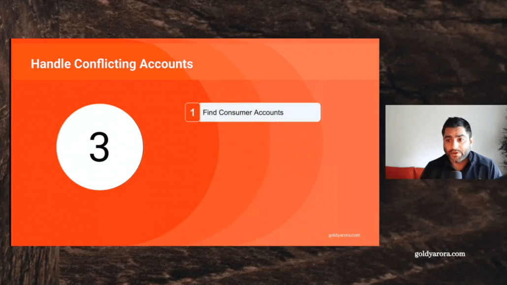 3. Find consumer account