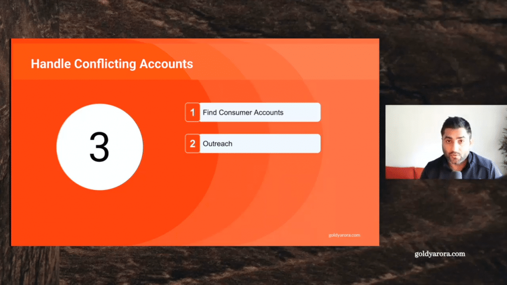 4. handle conflicting account